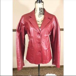 Chadwicks Red Leather Blazer